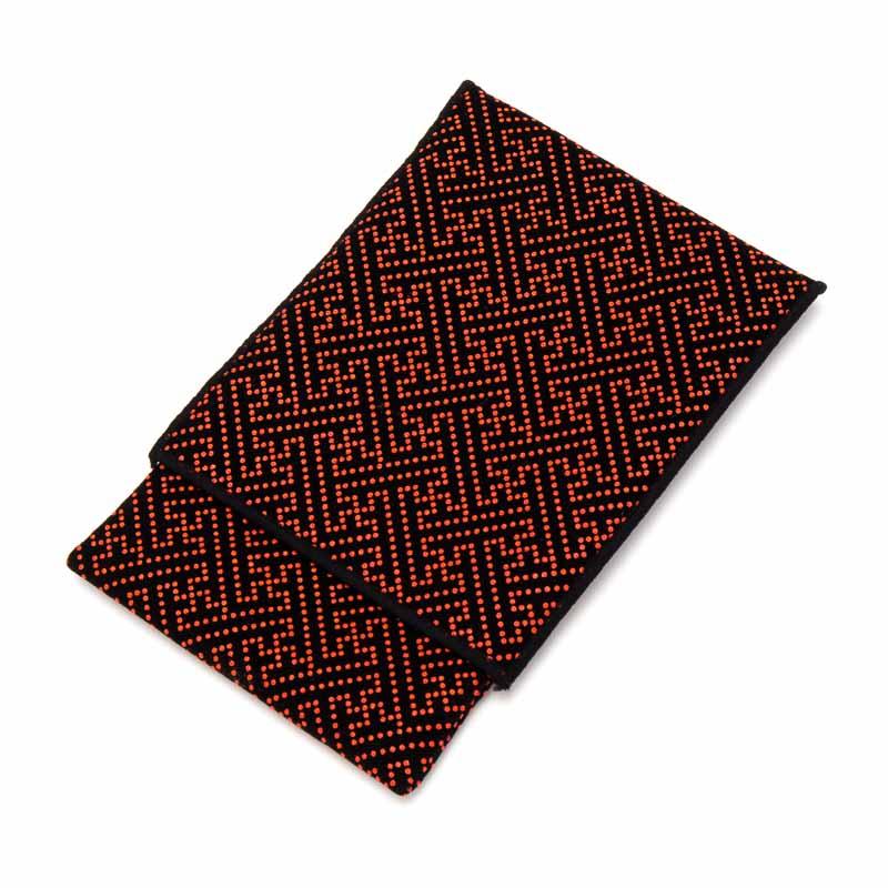 格安SALEスタート スエード印伝調の御念珠入 数珠 女性用 印伝調数珠袋 赤 印伝 念珠 念珠袋 念珠入 売却 数珠袋 スエード