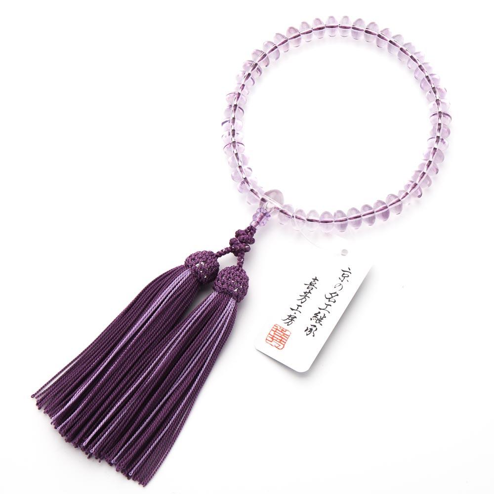数珠・女性用 ローズアメジスト みかん玉 9mm 念珠