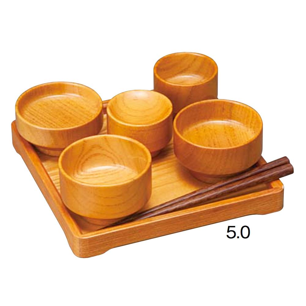 仏具・たわわ 仏膳椀セット(LB/5.0寸)