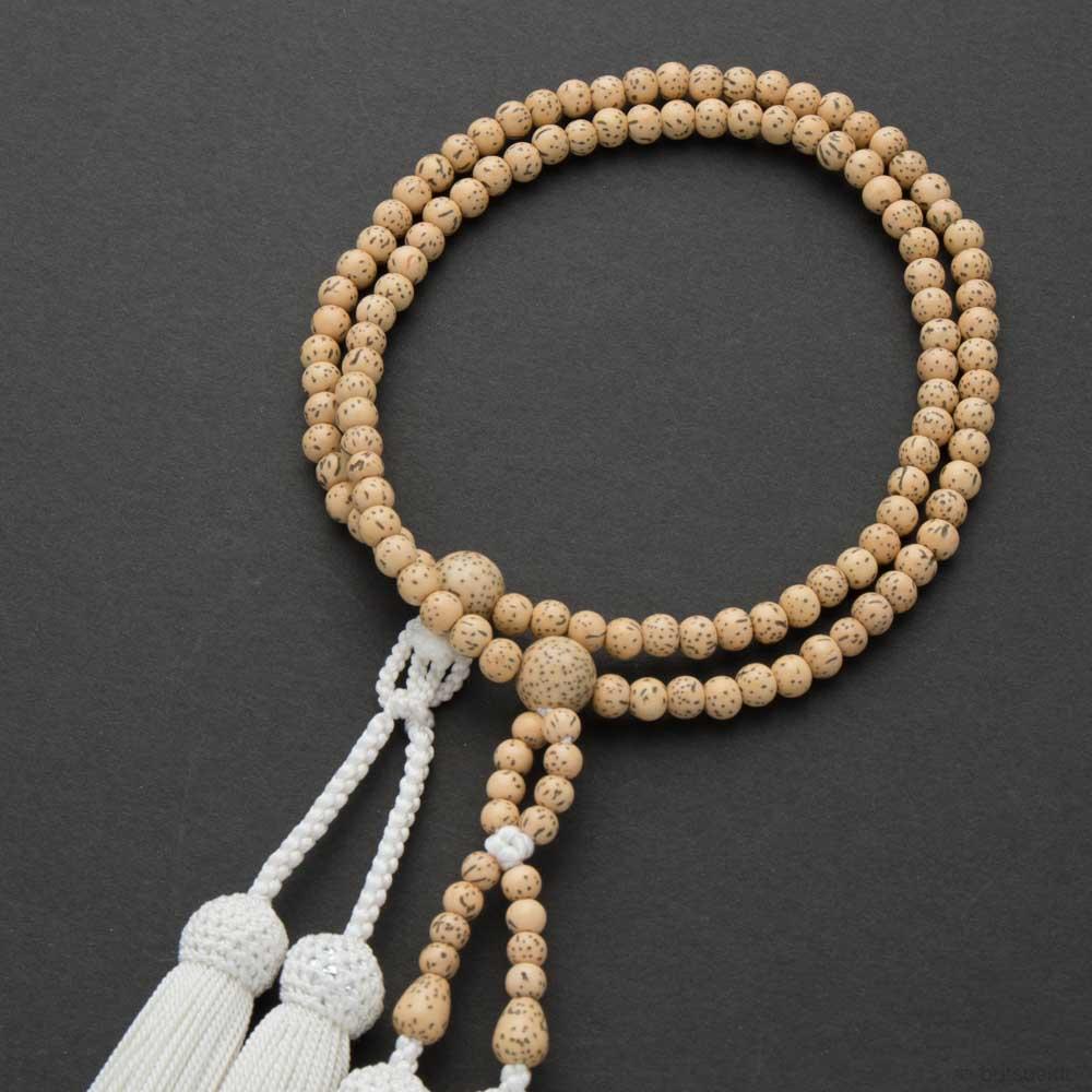 数珠・女性用 浄土真宗仕立 星月菩提樹 6mm 念珠