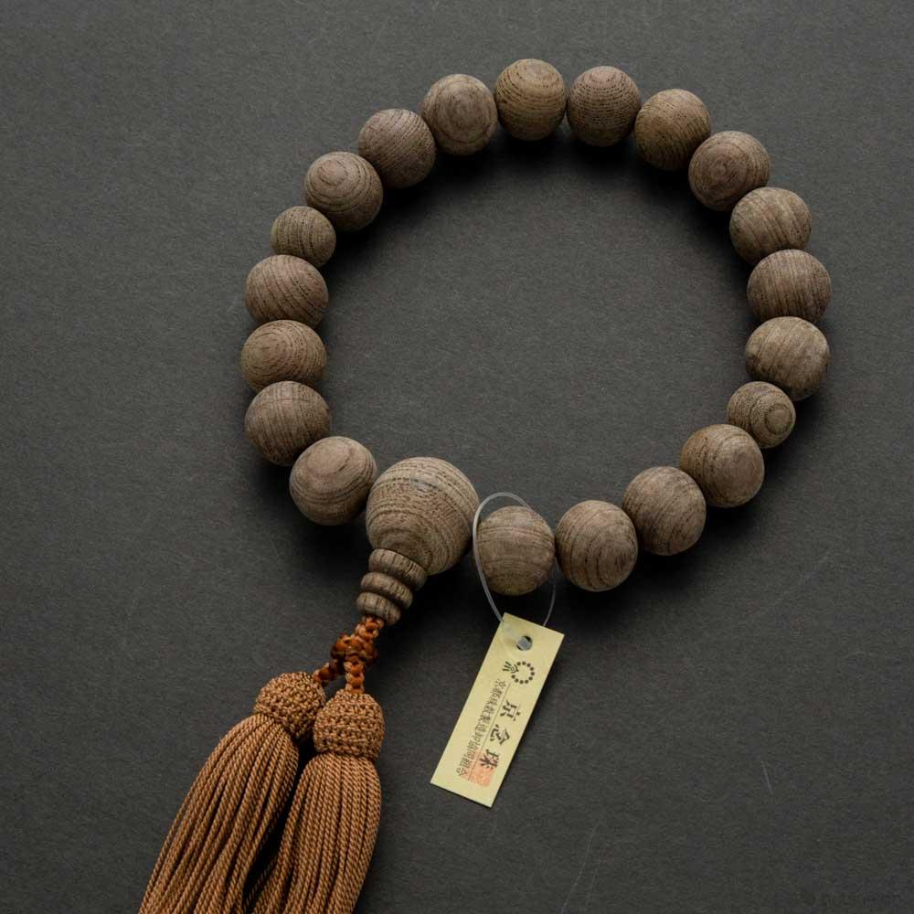 数珠・男性用 神代欅18玉 共仕立 正絹房