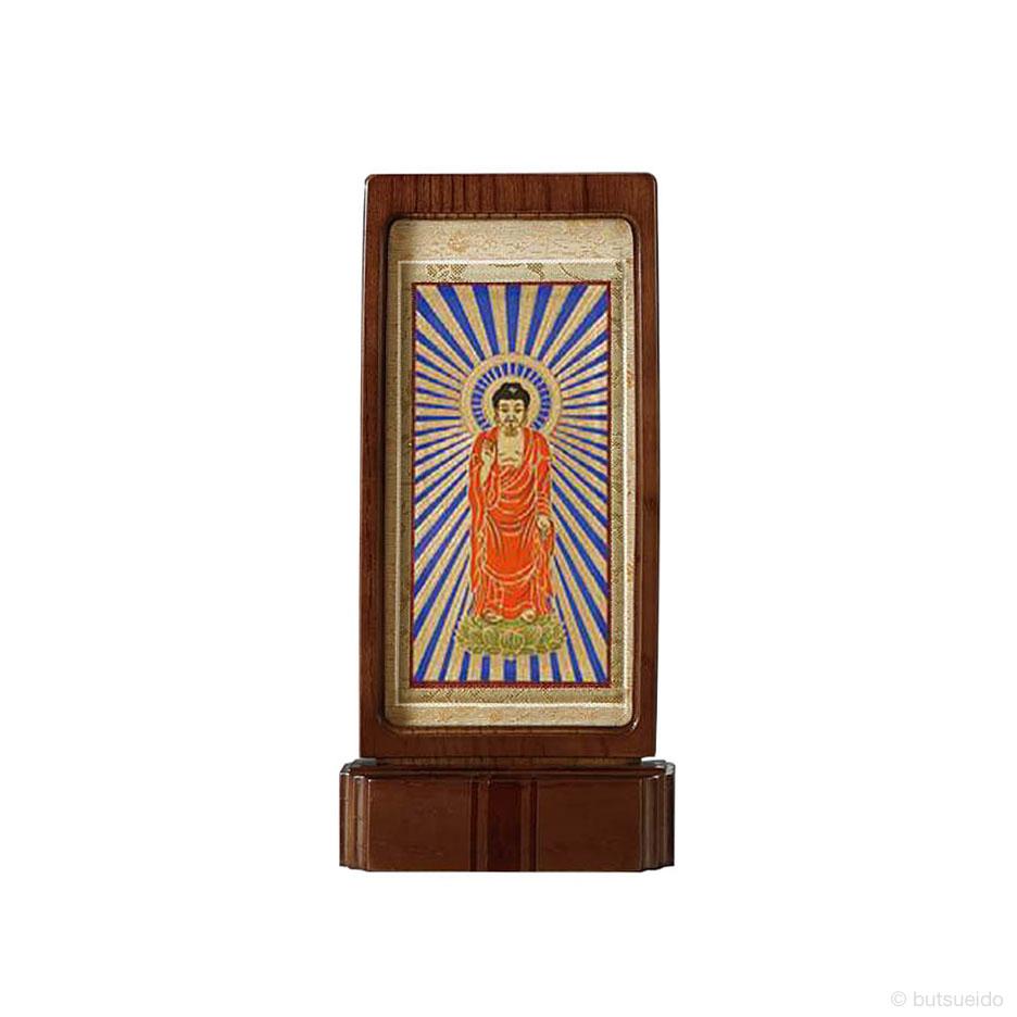 仏壇掛軸・スタンド掛軸 本尊 浄土真宗東仕様 ウォールナット色 (小)