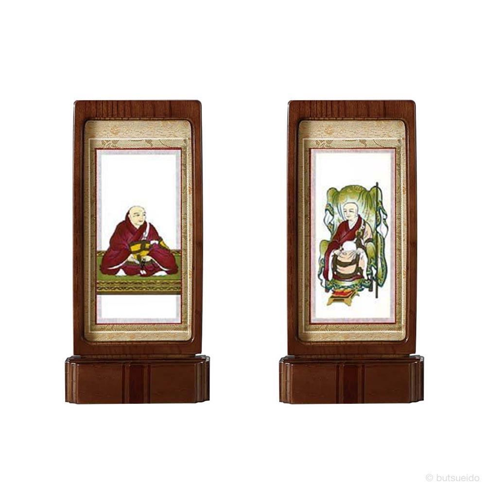 仏壇掛軸・スタンド掛軸 脇侍 臨済宗妙心寺派仕様 ウォールナット色 (小)