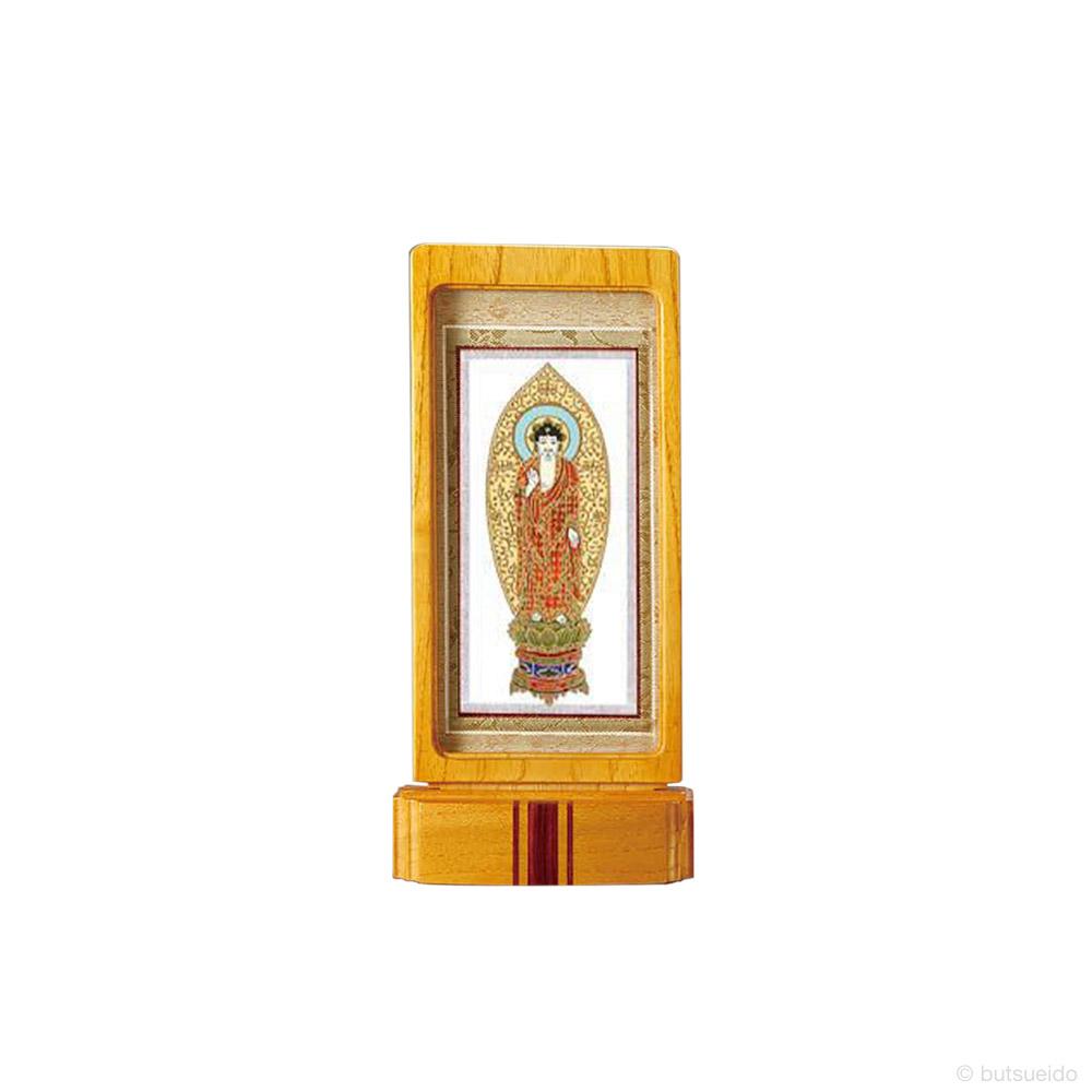 仏壇掛軸・スタンド掛軸 本尊 浄土宗仕様 ライトブラウン (小)