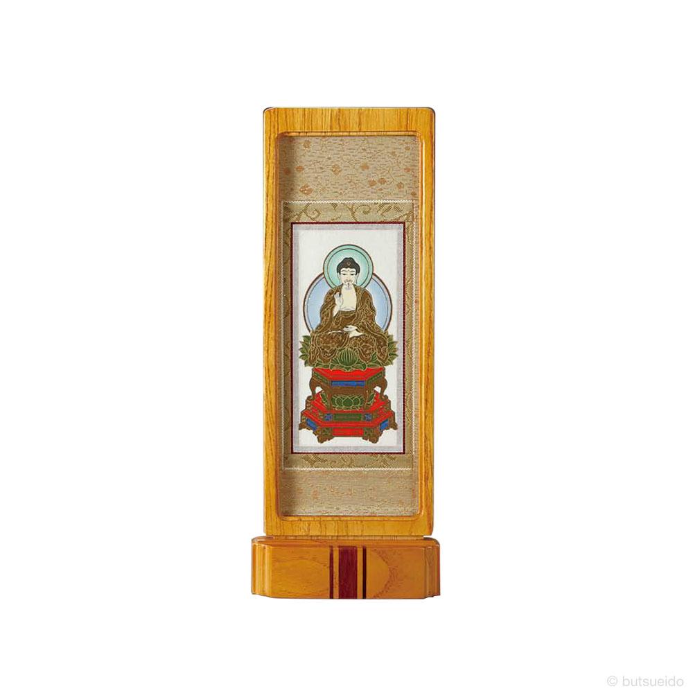 仏壇掛軸・スタンド掛軸 本尊 臨済宗妙心寺派仕様 ライトブラウン (中)
