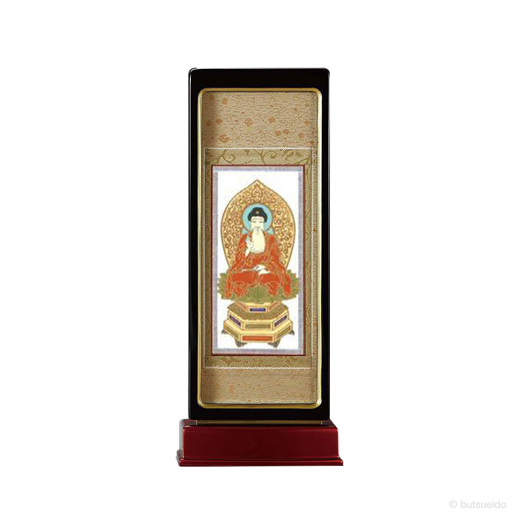 仏壇掛軸・スタンド掛軸 本尊 天台宗仕様 黒玉虫 (中)