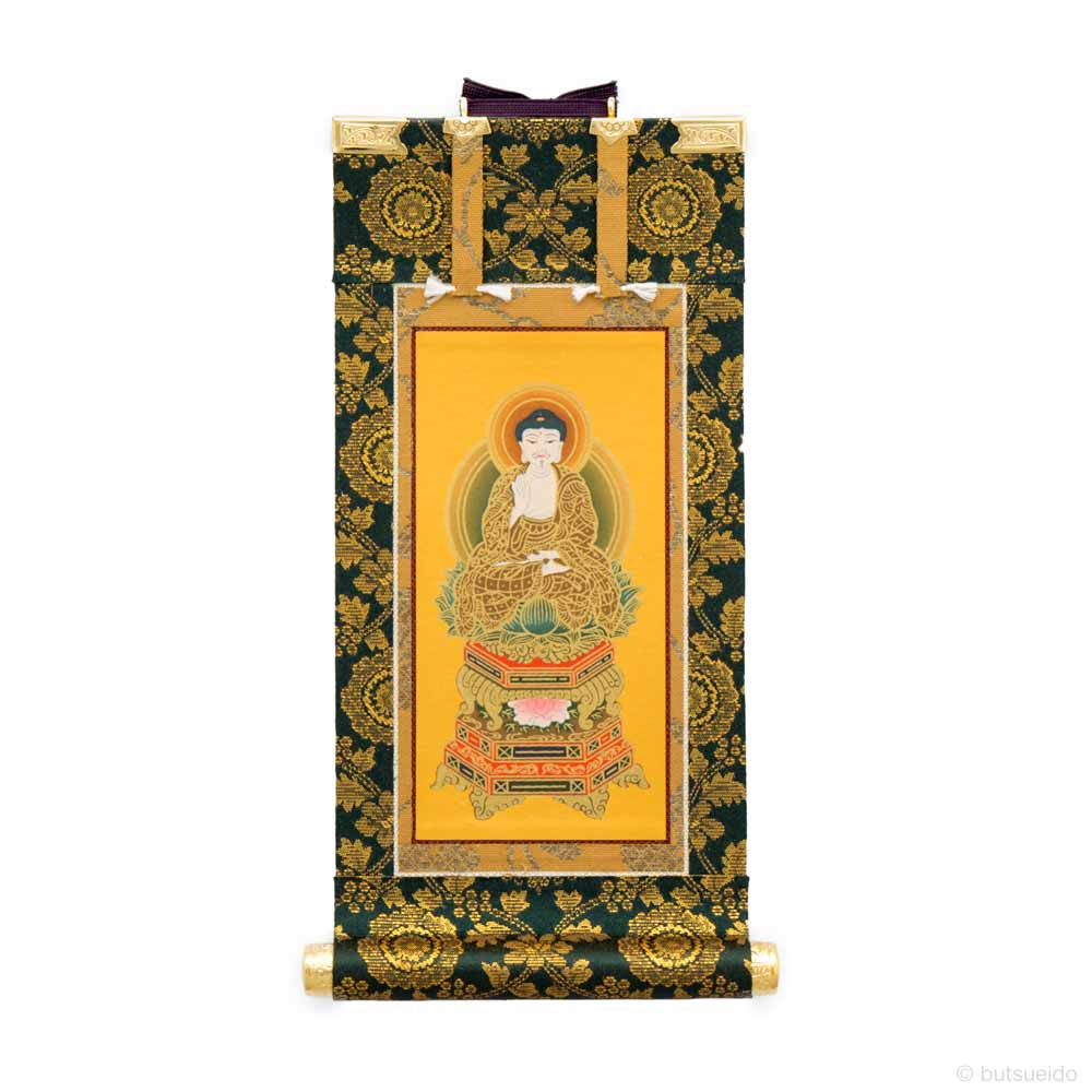 仏壇掛軸・應華(絹本手描き・彩色、正絹緞子)本尊 曹洞宗仕様 (20代)