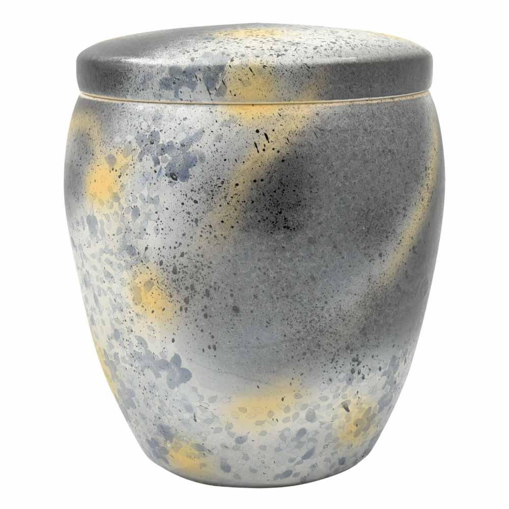 一級陶磁器技能士が手作りした骨壷 売れ筋 国内送料無料 手元供養 瀬戸焼 2.3寸 墨金彩