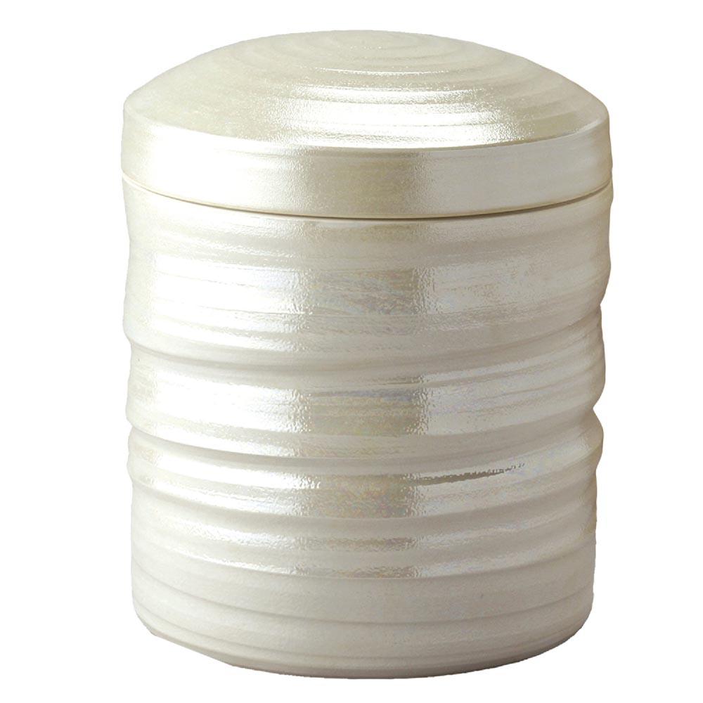 一級陶磁器技能士が手作りした骨壷 手元供養 瀬戸焼 与え 早割クーポン 虹彩 2.3寸