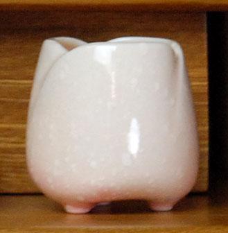 小型 仏壇 におすすめの 仏具 単品 やわらかな印象の 陶器製 やわらぎ 中型 弔事 単品販売 ピンク 仏壇用品 仏壇用 さくら色 茶器 新色追加して再販 マーケット 湯のみ