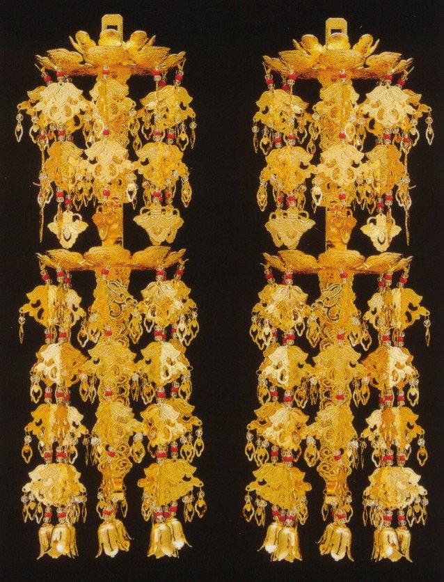 ヨウラク リントウ用 輪灯 瓔珞 二重六段真鍮本金メッキ4.0号(1対入)
