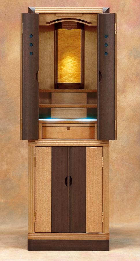 特別仏具付セット アルファ CL-15×46号 床置仏壇 仏壇 モダン でスタイリッシュな 小型 床置仏壇