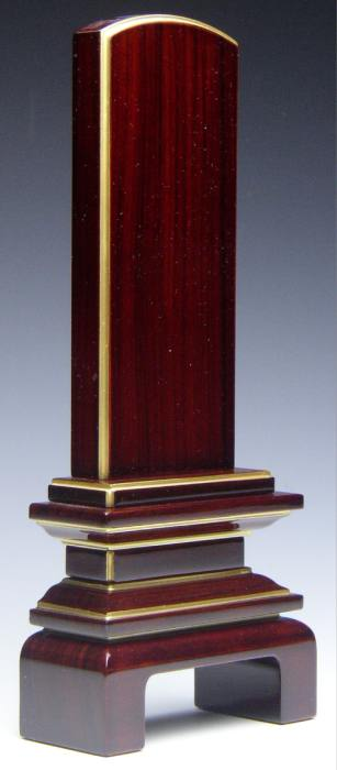 透き漆仕上 位牌 5.0号(紫檀・黒檀)高級 唐木位牌 梅シリーズ