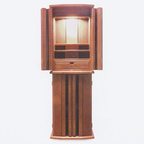 仏壇 モダン仏壇(床置) レイラ 12-38 外形寸法12-38 高116×巾38×奥行33cm