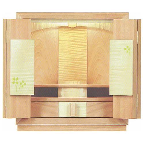 仏壇 上置モダン仏壇 | 夢SOジャパン 四ツ葉のクローバー | H37×W35×D26cm 内部寸法 (1)19cm (2)9cm