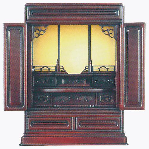 仏壇 上置型金仏壇 ダルマ出〆 20号 高610×巾475×奥行345×須弥壇上282mm