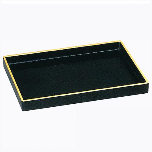 焼香盆 木製 ノンスリップ 1尺 黒色フチ金 p85 奥行212×巾303×高30mm 重量 283g 仏具 通販