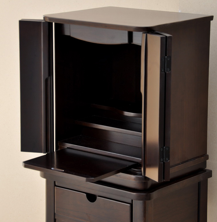 Modern altar high legs with small no.14-Walnut color