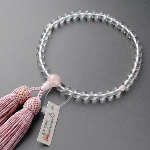 Your rosary: Kyoto for Union women prayer beads wholesale, beads manufacturing and this quartz crystal Rose Quartz and silk head tuft with