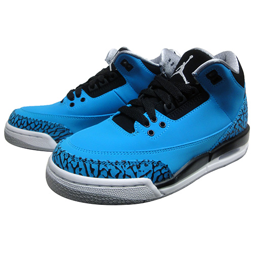 NIKEナイキ ジョーダンAIR JORDAN 3 RETRO BG 'POWDER BLUE'398614 406uTlOXPkZiw