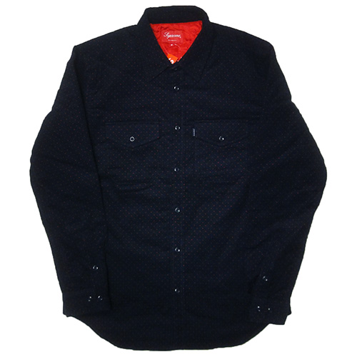 Supreme (シュプリーム) POLKA DOT QUILTED SHIRT
