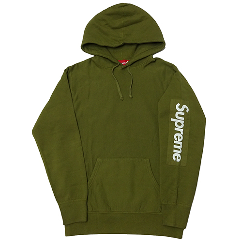 Supreme (シュプリーム) SLEEVE PATCH HOODED SWEATSHIRT