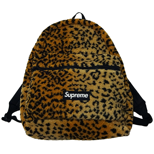 Supreme (シュプリーム) LEOPARD FLEECE BACKPACK