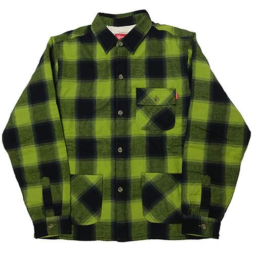 Supreme (シュプリーム) BUFFALO PLAID SHERPA LINED CHORE SHIRT