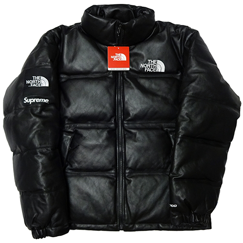 Supreme (シュプリーム) × THE NORTH FACE (ノースフェイス) LEATHER NUPTSE JKT 【ND917021】