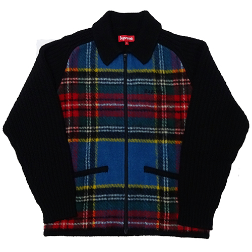 Supreme (シュプリーム) PLAID FRONT ZIP SWEATER