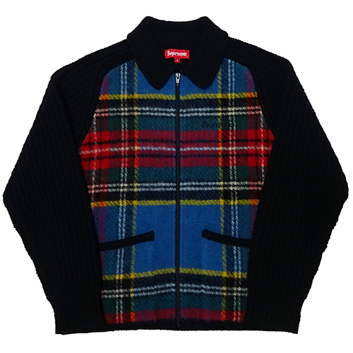 【中古】 Supreme (シュプリーム) PLAID FRONT ZIP SWEATER