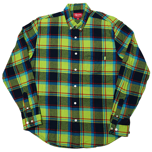 【中古】 Supreme (シュプリーム) PLAID FLANNEL SHIRT (美中古)