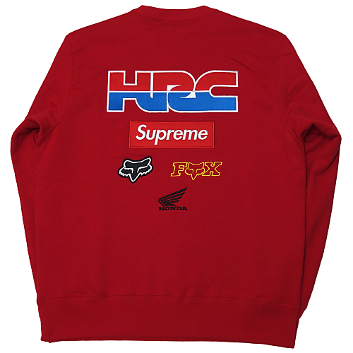 Supreme (シュプリーム) × HONDA × FOX RACING CREWNECK