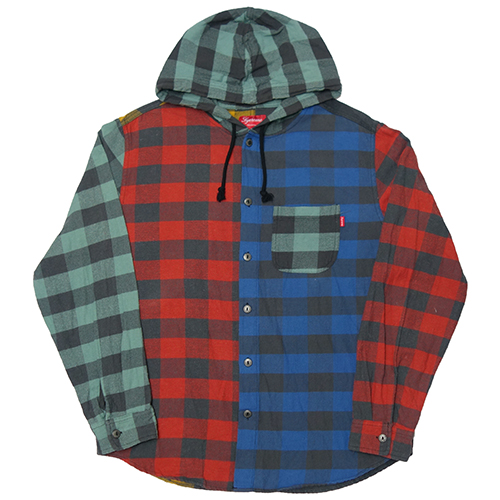 【中古】 Supreme (シュプリーム) HOODED BUFFALO PLAID FLANNEL SHIRT