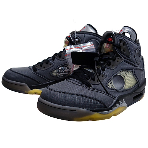 NIKE (ナイキ ジョーダン) × OFF WHITE AIR JORDAN 5 RETRO SP 【CT8480-001】