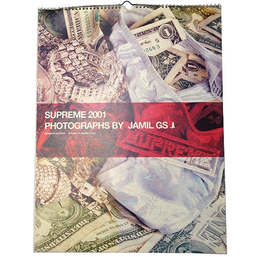 【中古】 Supreme (シュプリーム) 2001 CALENDER PHOTOGRAPHS BY JAMIL GS