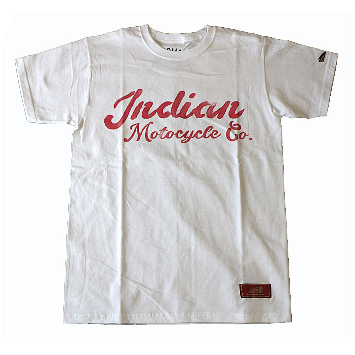 Indian × Nowh Ereman(インディアン×ノウ・エレマン)スクリプトロゴTシャツ半袖ホワイト