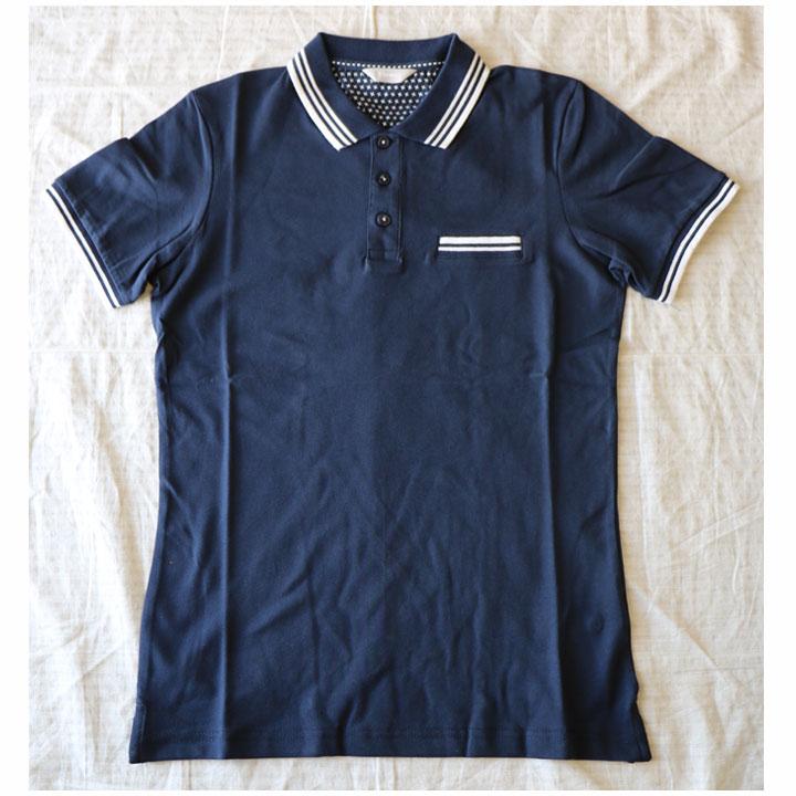 SSEINSE(センス)半袖ポロシャツネイビー