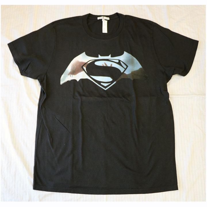 JUNK FOOD(ジャンクフード)半袖TシャツバットマンVSスーパーマンDAWN OF JUSTICEBLACK