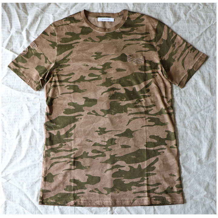 HAMAKI-HO(ハマキホ)半袖Tシャツカモフラ(ブラウン×カーキ)