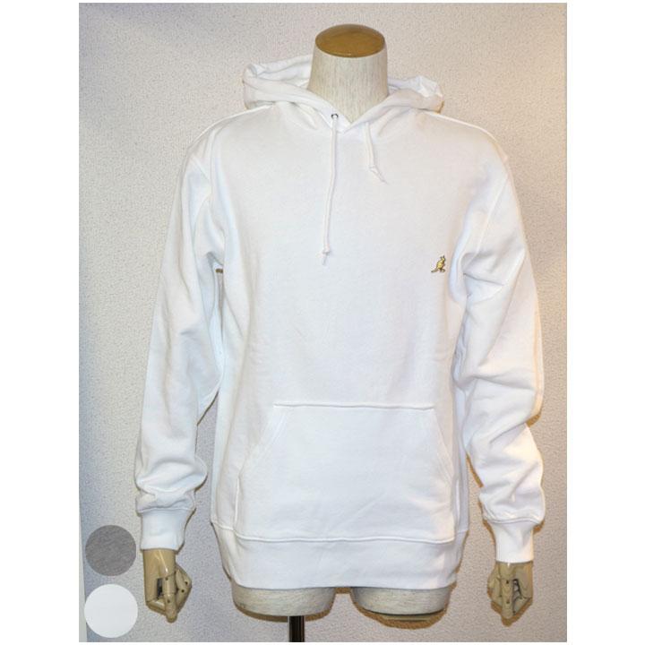 KANGOL(カンゴール)胸ワンポイントスウェットプルパーカー長袖パーカー 2色グレー ホワイト