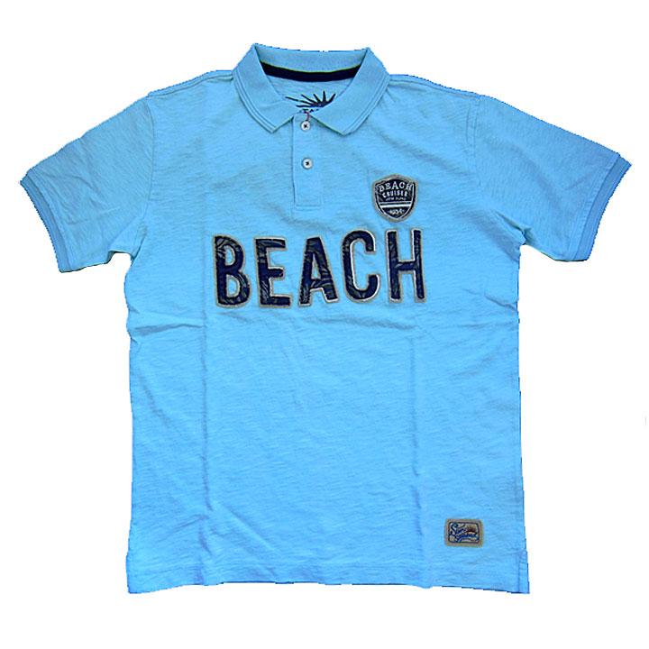 KRIFFMAYER(クリフメイヤー)半袖ポロシャツ『BEACH』サックス