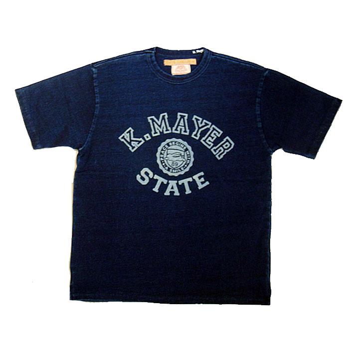 KRIFFMAYER(クリフメイヤー)TOUGH TEE(タフティー)半袖プリントTシャツ(インディゴ)ディープブルー