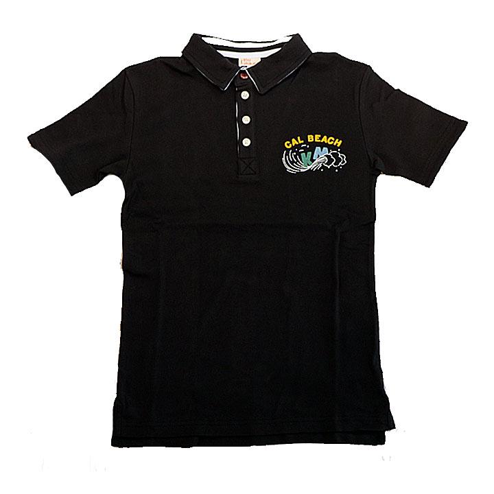 KRIFFMAYER(クリフメイヤー)タイトフィットポロシャツ(WAVE)ブラック