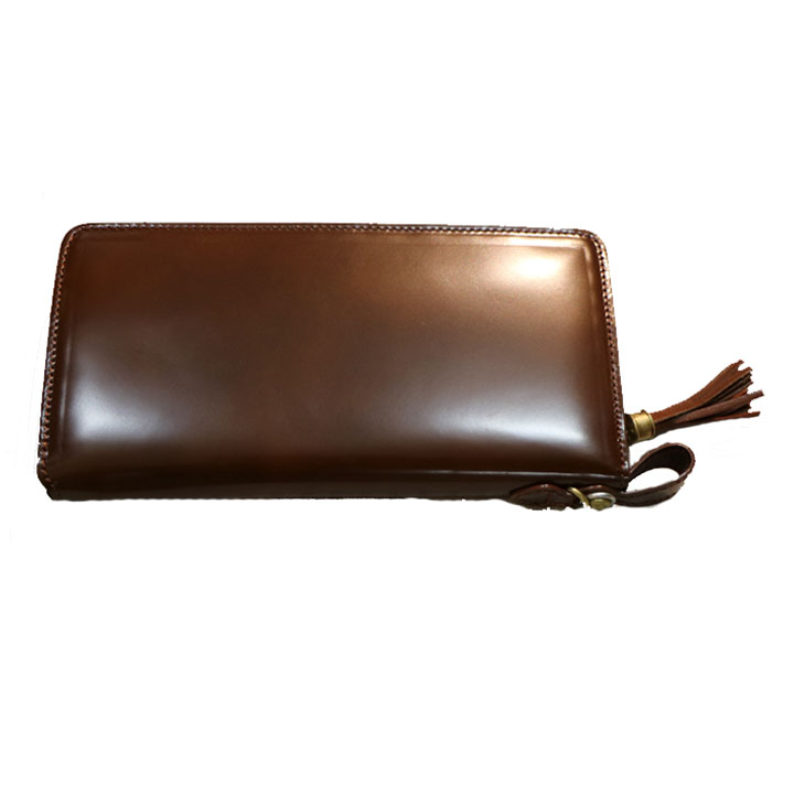 KC,s(ケイシイズ)財布 馬臀部革 日本製ラウンドジップコードバン(ライトブラウン)