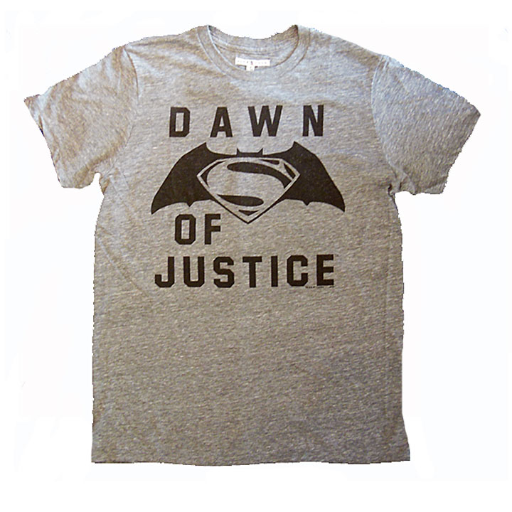 Junk Food Batman V Superman Dawn Of Justice Tee Shirt Grey