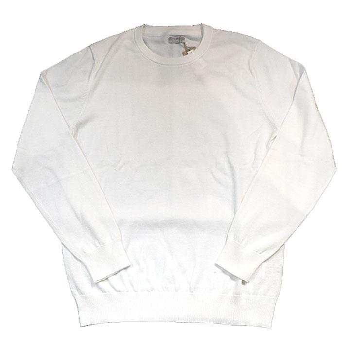gim(ジム)綿セーターニットホワイト