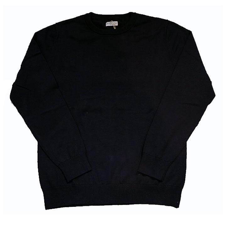 gim(ジム)綿セーターニットネイビー