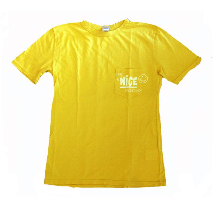 JUNK FOOD(ジャンクフード)半袖ポケットTシャツHAVE A NICE WEEK ENDMustard