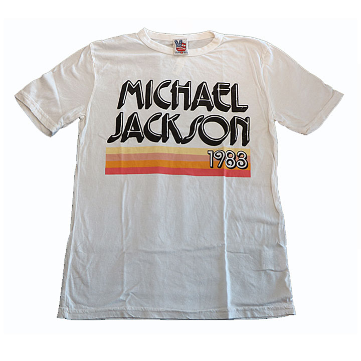 JUNK FOOD(ジャンクフード)キング・オブ・ポップマイケル・ジャクソン半袖Tシャツオフホワイト